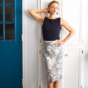 VINTAGE 🌸 Floral & Pastel Pencil Skirt